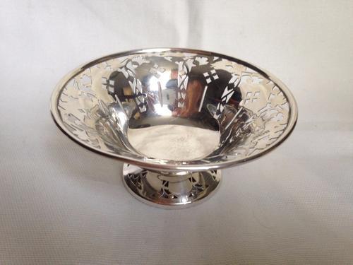Sterling Silver Pierced Sweet Dish Bowl 51 gr - Birmingham 1945 (1 of 1)