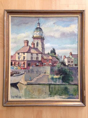Original Oil Painting / Ruth Leibman 'The King's Heads. Upton on Severn' 1983 (1 of 1)