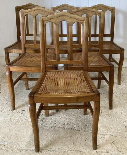 Set of 6 French Dining Chairs c.1900 (1 of 7)