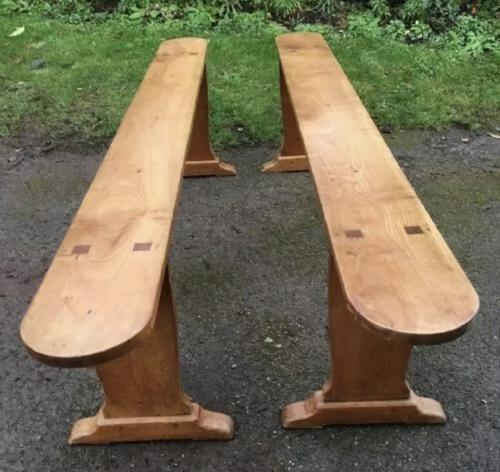 Pair of French Cherry Dining Benches c.1870 (1 of 5)