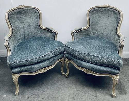 Pair of French Upholstered Bergere Armchairs (1 of 12)