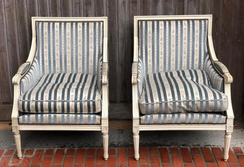 Pair of French Bergere Armchairs (1 of 9)