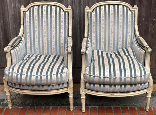 Pair of French Bergere Armchairs (1 of 11)