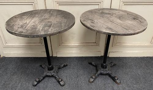 Pair of Cast Iron Tables c.1890 (1 of 10)