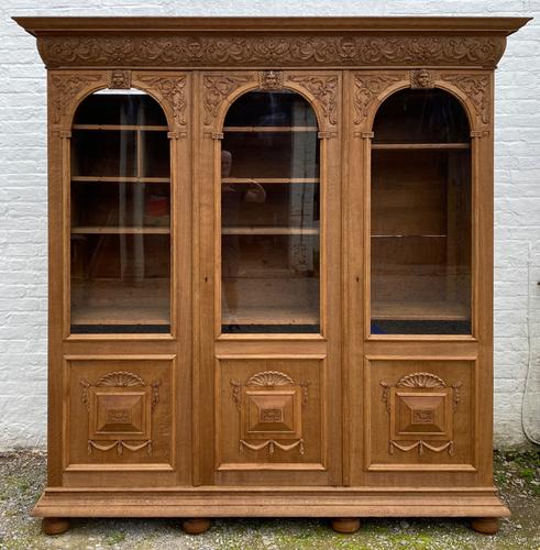 Exceptional Large French Oak Bookcase c.1850 (1 of 19)