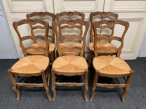 Set of 6 French Ladder Back Chairs (1 of 7)