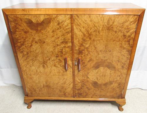 Art Deco Burr Walnut Cupboard (1 of 1)
