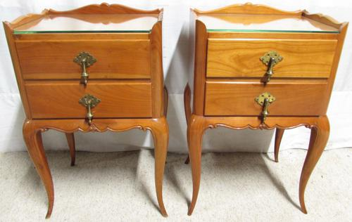 Pair of French Walnut Bedside Cabinets C.1910 (1 of 1)