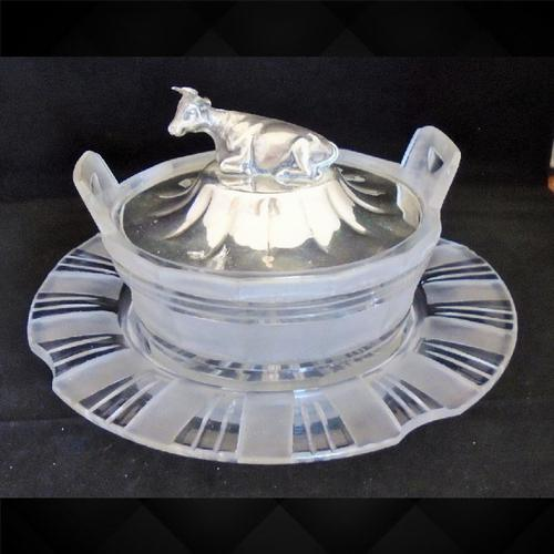 Silver Cow Lidded Butter Dish (1 of 15)