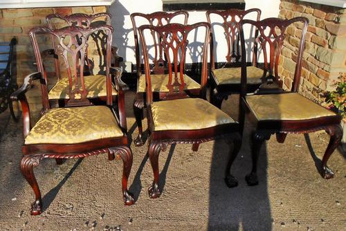 Six Chippendale style dining chairs (1 of 1)