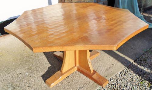 Mouseman Octagonal Pedestal Table (1 of 1)