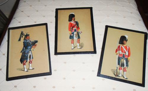 3 Watercolours Military Gentleman (1 of 1)