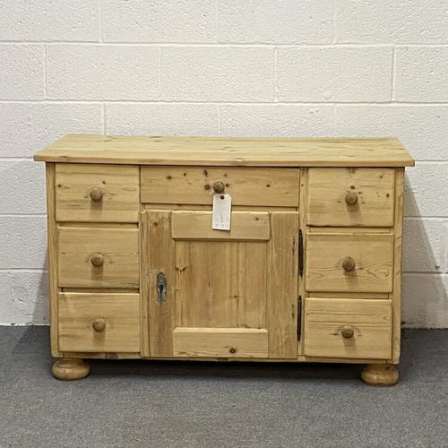 Large Old Pine Sideboard with Drawers c.1910 (1 of 6)