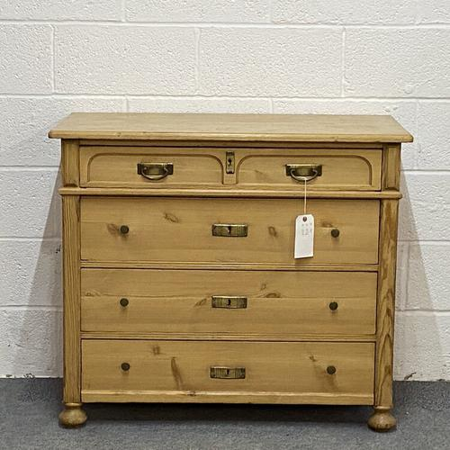 Antique Pine Chest of Drawers C.1920 (1 of 6)