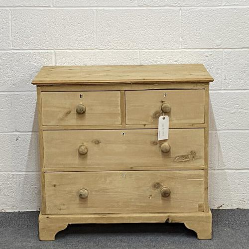 Small Old English Pine Chest of Drawers (1 of 5)