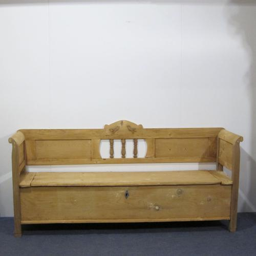 Antique Country Kitchen Storage Pew (1 of 1)