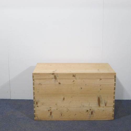 Tall Antique Pine Blanket Box (1 of 1)
