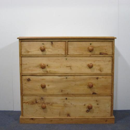 Traditional Late Victorian Pine Chest of Drawers c.1890 (1 of 1)