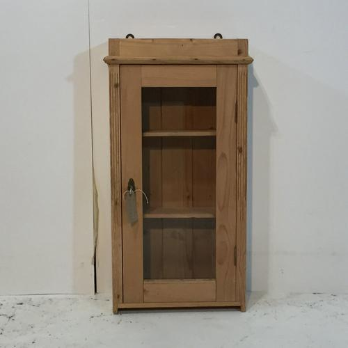 Small Pine Wall Hanging Bathroom Cabinet c.1920 (1 of 1)