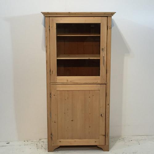Glazed Old Pine Cabinet c.1910 (1 of 1)