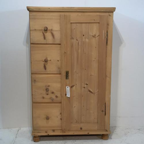 Antique Pine Food Cupboard with 4 Deep Drawers (1 of 1)
