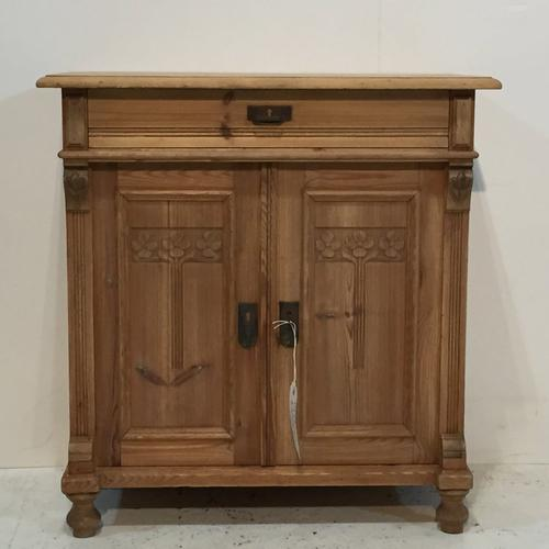 Charming Old Pine Bedside Cupboard c.1915 (1 of 1)