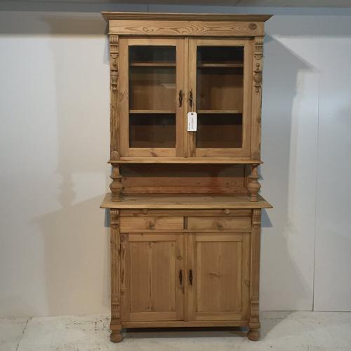 Antique Pine Glazed Farmhouse Dresser c.1910 (1 of 1)