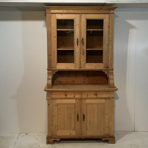 Tall Slender Antique Pine Dresser c.1910 (1 of 1)