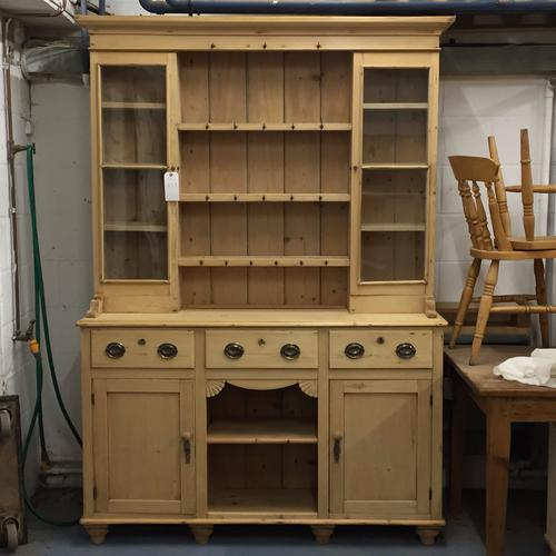 Very Large Old Victorian Pine Farmhouse Dresser C.1880 (1 of 1)