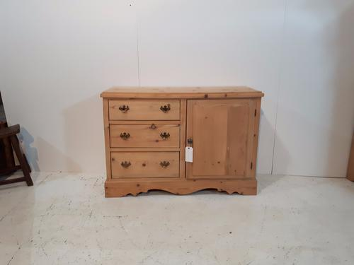Small Victorian Pine Sideboard (1 of 1)