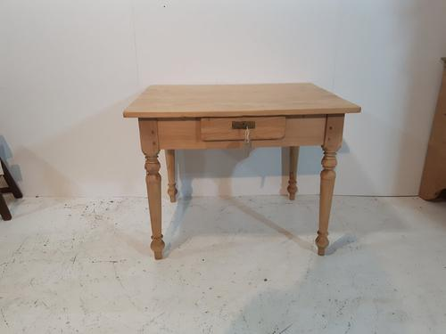 Small Pine Kitchen Table c.1920 (1 of 1)