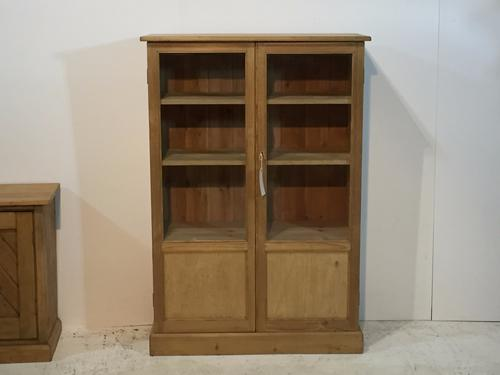 Old Glazed Pine Display Cabinet c.1920 (1 of 1)