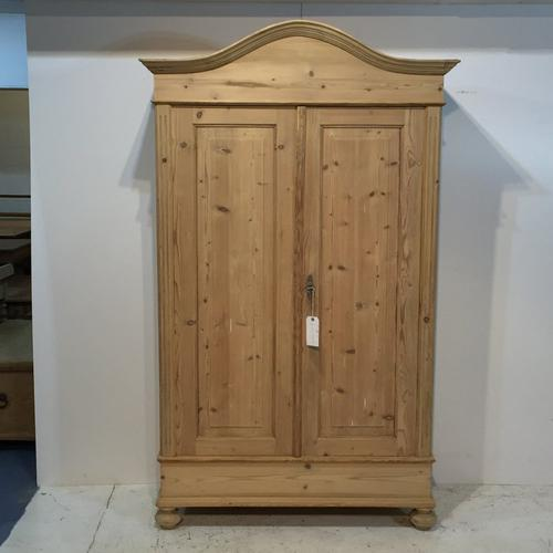Beautiful Arch Top Antique Pine Double Wardrobe (1 of 1)