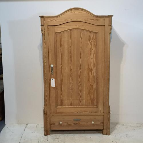 Antique Pine Arched Top Armoire c.1910 (1 of 1)