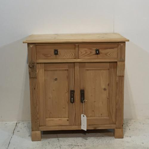 Charming Little Old Pine Bedside Cupboards c.1920 (1 of 1)