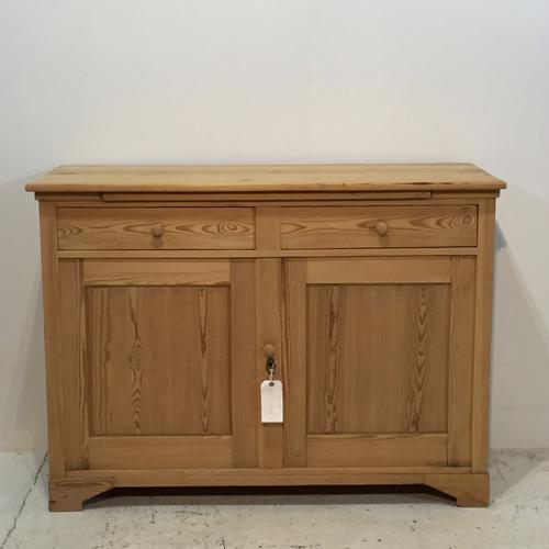 Old Pine 2 Door / 2 Drawer Base Cupboard c.1920 (1 of 1)
