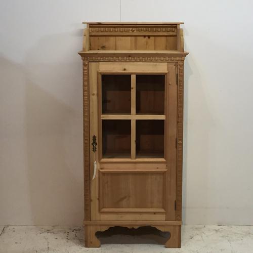Part Glazed Slender Pine Cupboard c.1920 (1 of 1)