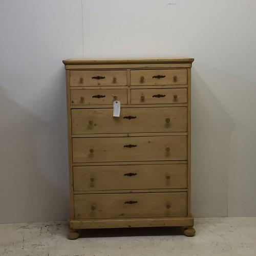 Antique Pine Bank of Drawers c.1910 (1 of 1)