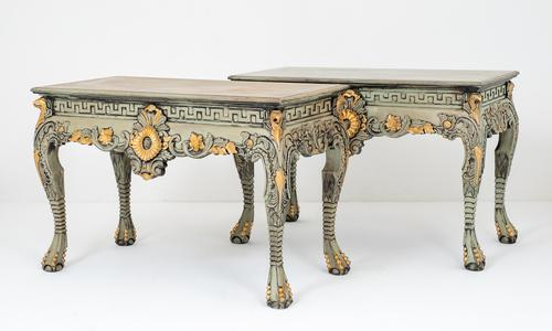 Superb Pair of Chippendale Style Console Tables (1 of 10)