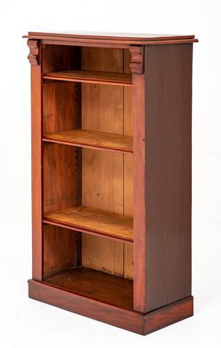 Victorian Mahogany Open Bookcase (1 of 6)
