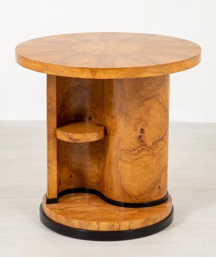 Stylish Figured Ash Art Deco Occasional Table (1 of 9)