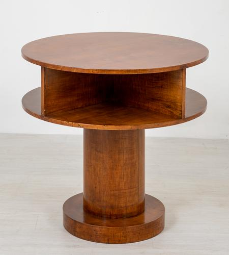 Art Deco Sycamore Cylindrical Occasional Table (1 of 5)