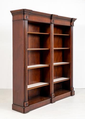 Large Mahogany Open Bookcase c.1920 (1 of 9)