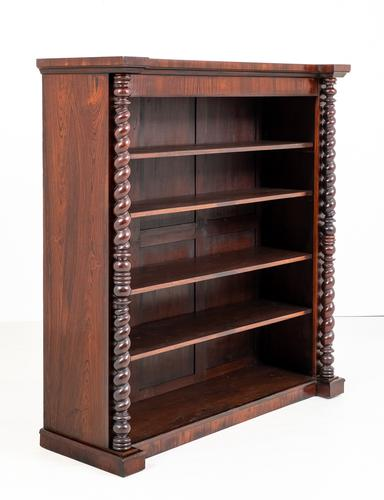 Victorian Rosewood Large Open Bookcase of Inverted Form (1 of 6)