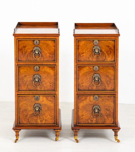 Pair of Victorian Walnut Bedside Cabinets (1 of 8)