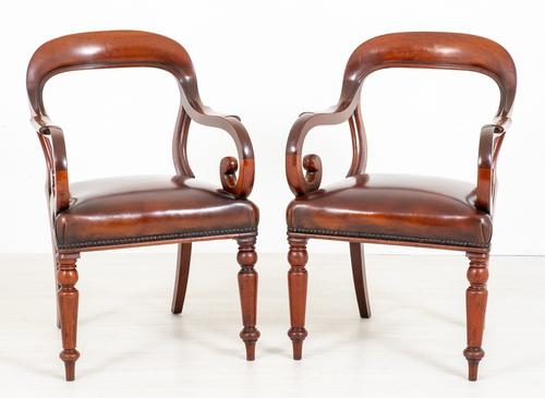 Good Pair of Victorian Mahogany Desk Chairs (1 of 9)