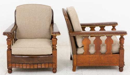 Pair of Oak Art Deco Club Chairs (1 of 1)