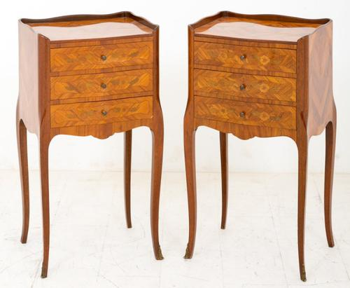 Pair of French Kingwood Bedside Cabinets c.1920 (1 of 1)