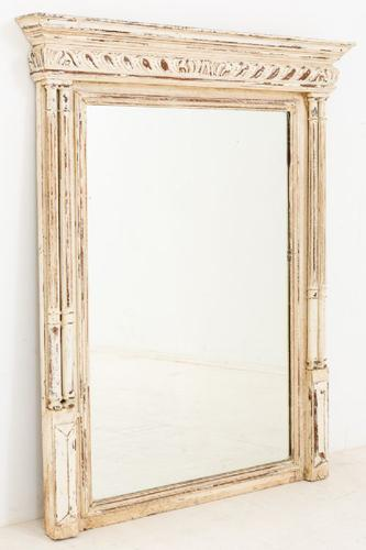 French Oak Bevelled Glass Overmantle Mirror c.1880 (1 of 1)