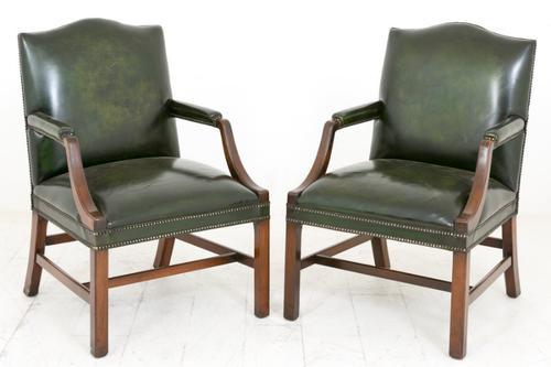 Pair of Mahogany Gainsborough Chairs c.1920 (1 of 1)
